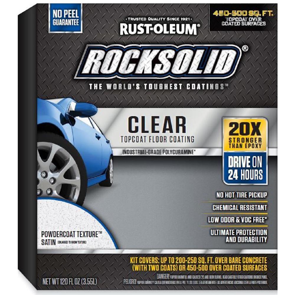 Rust-Oleum RockSolid 120 Oz. Clear Texture Top Coat Garage