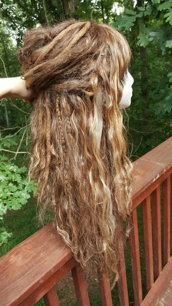 Custom Wool Dreadlock Synthetic Wig Custom by SisterSarahsShop #Naturalcolors #dreadsandtattoos