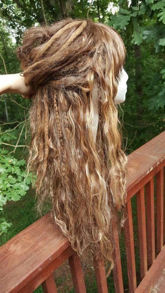Custom Wool Dreadlock Synthetic Wig Custom by SisterSarahsShop #Naturalcolors #dreadsandtattoos