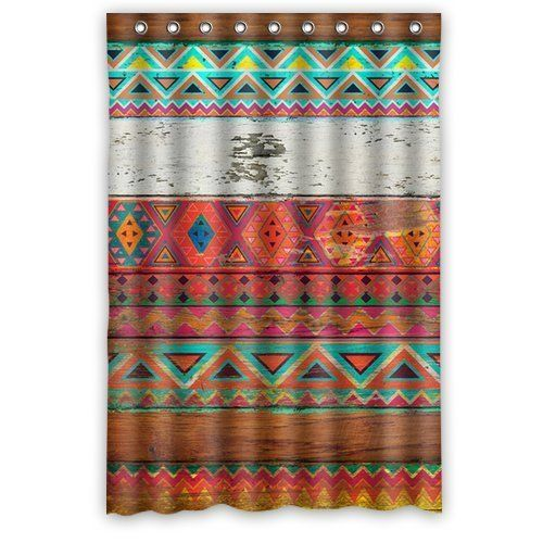 Natural Pattern Aztec Shower Curtain 60 By 72 Shower Cu Diy
