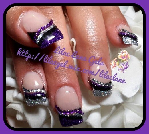 Blinged Out Nails Pinterest