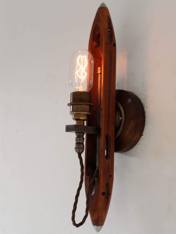 Reclaimed weaving shuttle wall light chantelle lighting bespoke reclaimed weaving shuttle wall light chantelle lighting bespoke lighting uk mozeypictures Gallery
