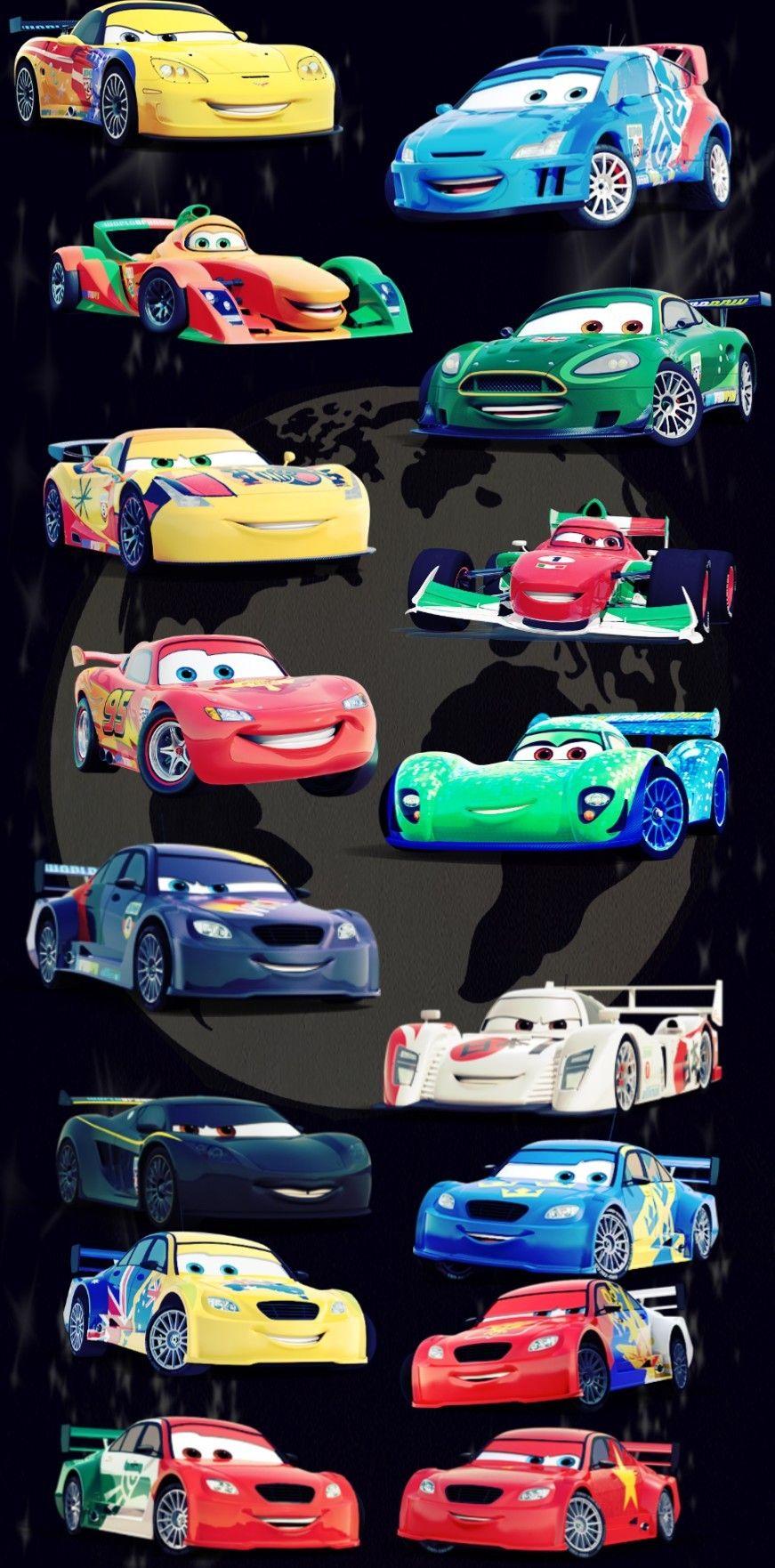 Disney Cars 2 Racers Disney Cars Wallpaper Disney Cars Pixar Cars [ 1762 x 871 Pixel ]