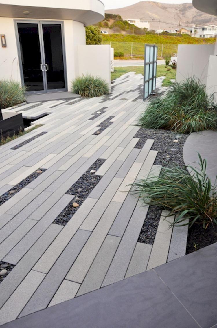 Adorable Best 100 Awesome Modern Front Yard Gardening Ideashttps Homeofpondo Com Best 100 Awesom Modern Landscaping Landscape Design Modern Landscape Design