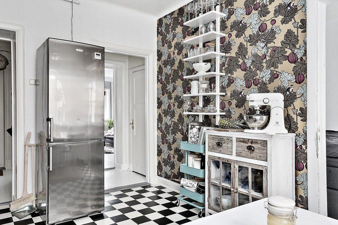 Ikea Le Papier le papier peint dans la cuisine un incontournable pour les esthètes