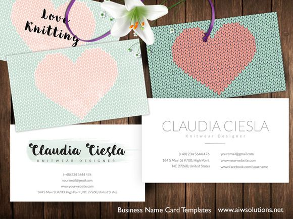 Name card for knitwear designers knitwear business cards and name card for knitwear designers by graphicsauthor reheart Image collections