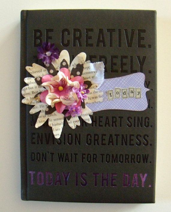 noTebOOk  jouRnAl  altEreD  toDaY is ThE by BelleArticlesElegant, $11.00