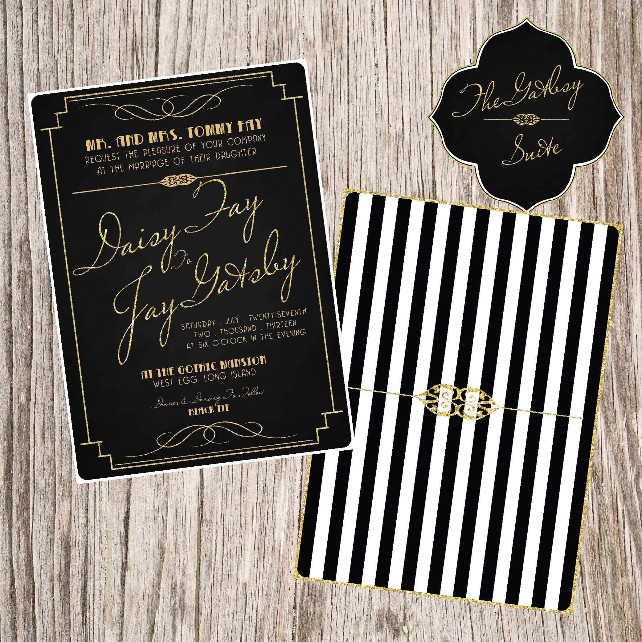 Roaring 20s Bridal Shower Invitations
