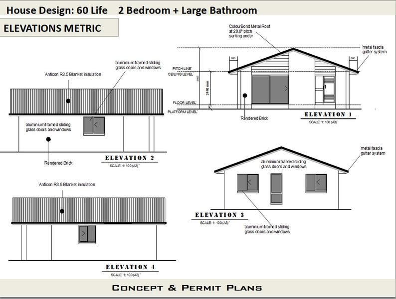 2 Bedroom House Plan 700 Sq Feet Or 65 M2 2 Small Home Etsy In 2020 House Plans For Sale 2 Bedroom House Plans House Plans