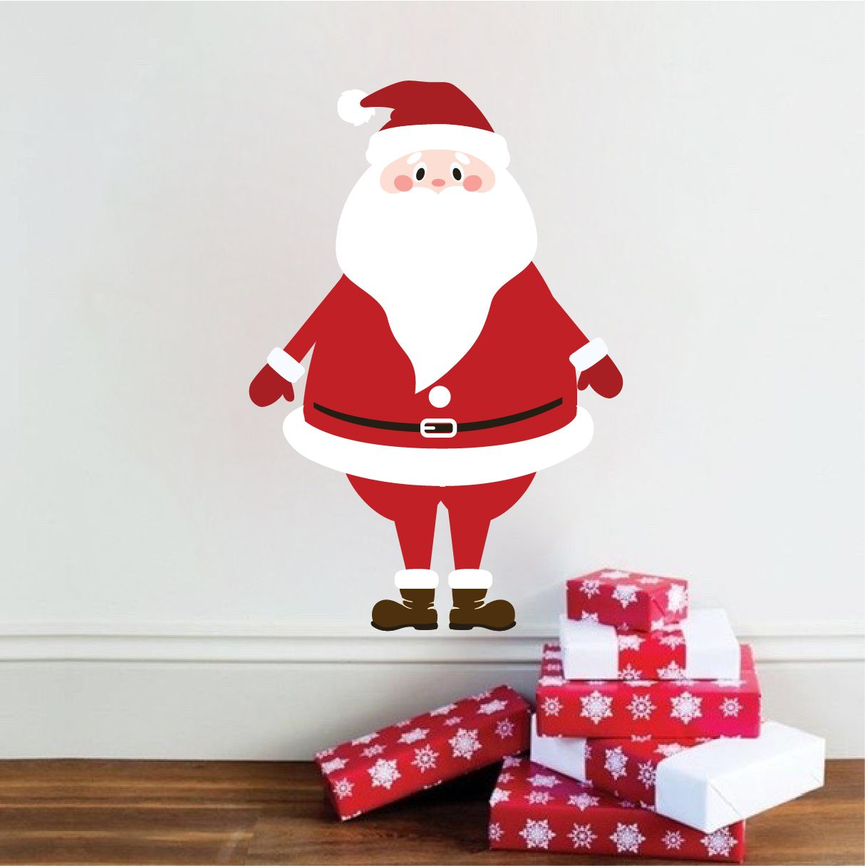 Christmas Santa Wall Decal Mural Christmas Santa Wall Design - Christmas wall decals removable