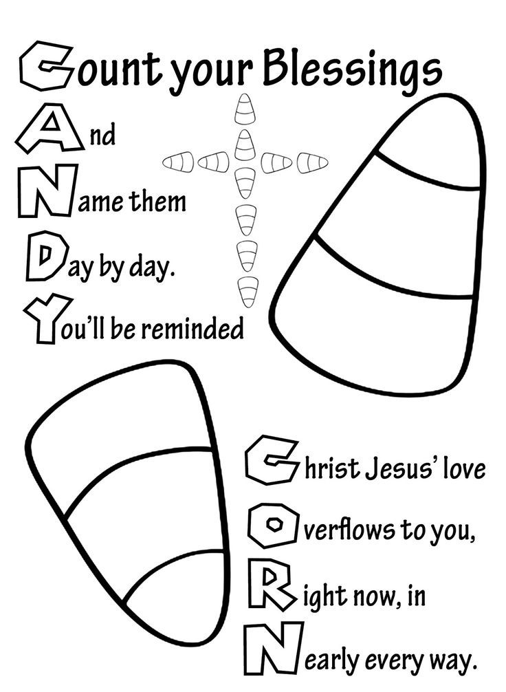 christain halloween coloring pages | Candy Corn | diy | Sunday school activities, Sunday School ...