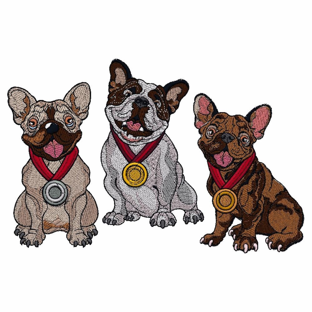 French Bulldog Embroidered Towels, Dog Gift, Frenchie Gift