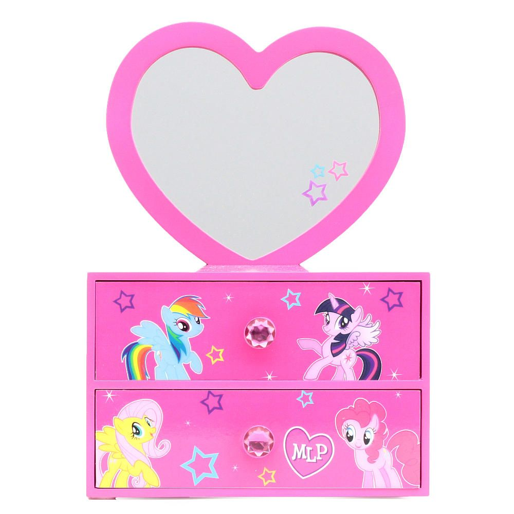 My Little Pony Jewelry Box Glamorous My Little Pony 2 Drawer Jewelry Box With Removeable Heart Mirrorbr Inspiration Design