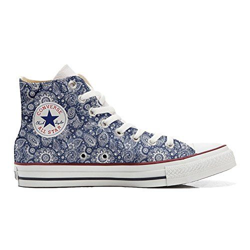 Converse Custom - personalisierte Schuhe (Handwerk Produkt) Elegant Paisley  46 EU