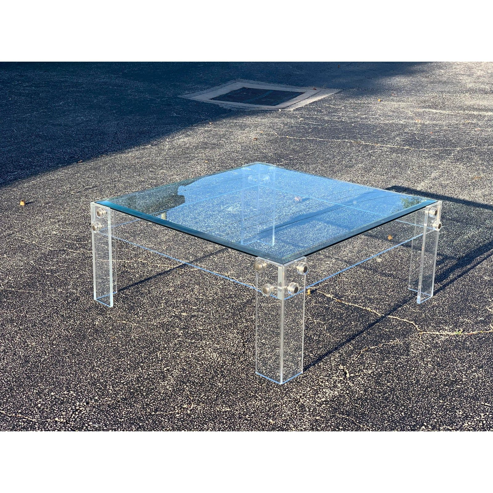 1970 S Lucite And Glass Modern Coffee Table Modern Glass Coffee Table Modern Coffee Tables Coffee Table [ 1600 x 1600 Pixel ]