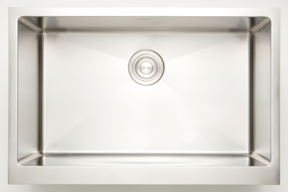 25 Inch W Single Bowl Undermount Kitchen Sink For A Deck Mount