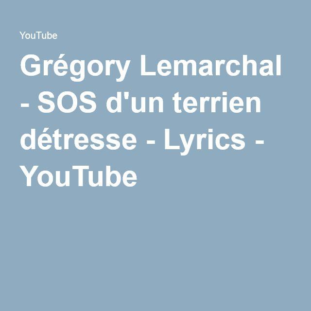 Grégory Lemarchal Sos D Un Terrien Détresse Lyrics