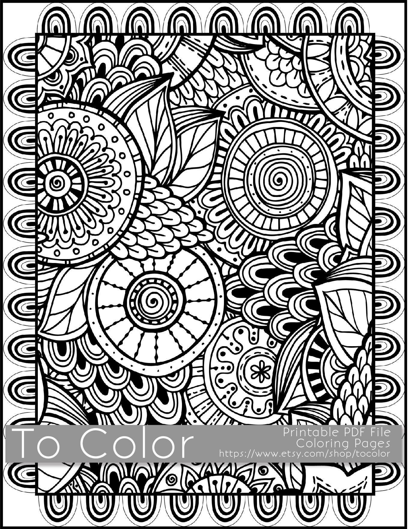 This is a printable PDF coloring page from To Color featuring an ...