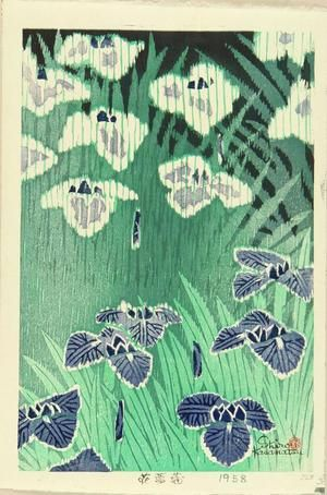 Kasamatsu Shiro: Iris — Hana shobu - Japanese Art Open Database