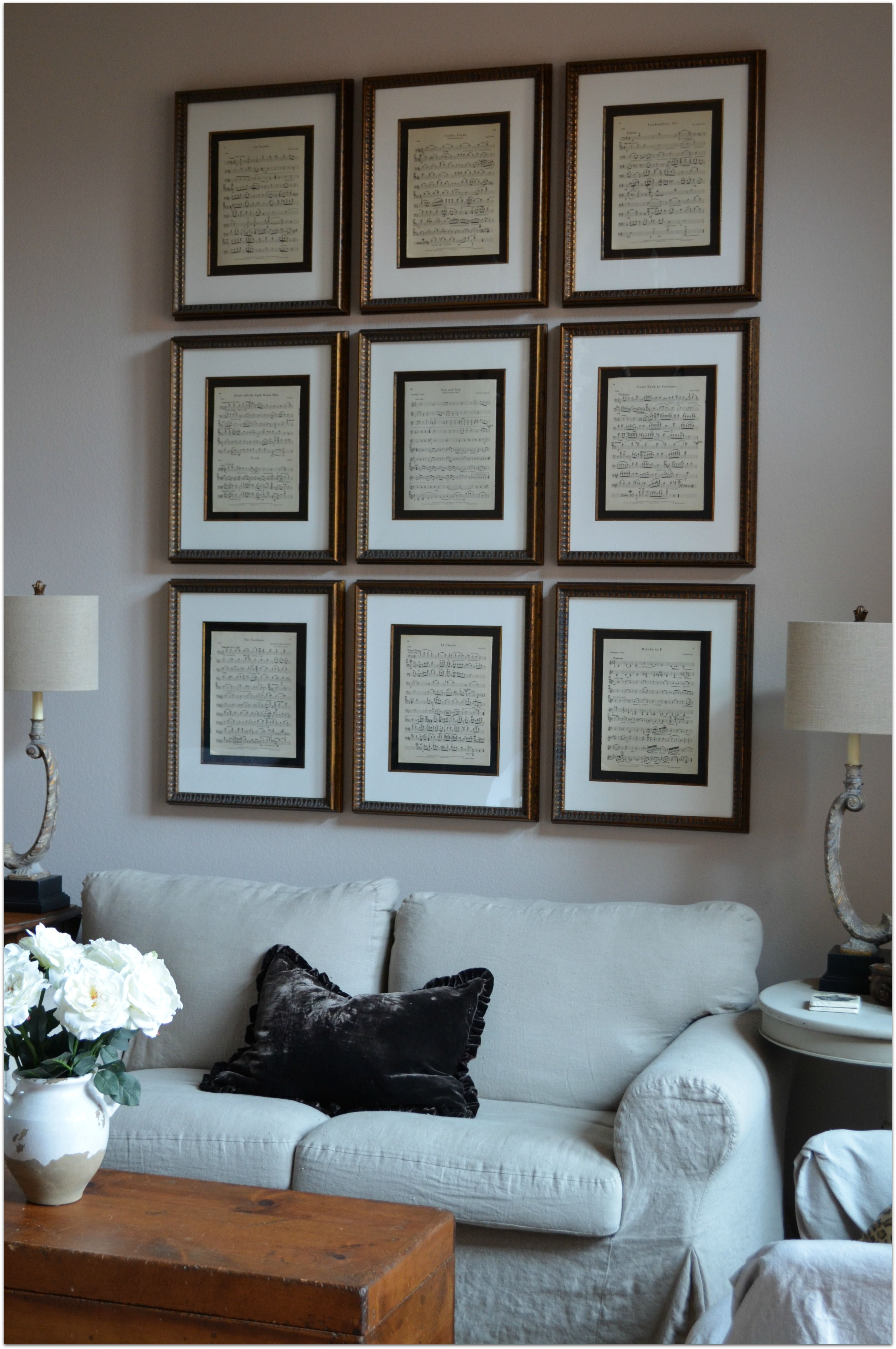 Recycling diy decor projects using reusable stuff you can find at sheet music in 16 x 20 frames for the piano room solutioingenieria Choice Image