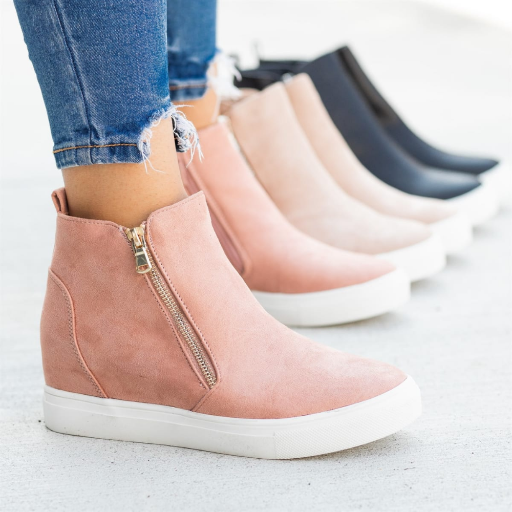 Details about  /Fashion Sneakers Women Winter Warm Platform Wedge High Heel Ankle Boots Casual