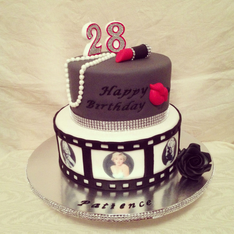 Marilyn Monroe Cake 6 13 With Images Marilyn Monroe Birthday