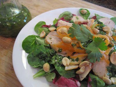 Stirring the Pot: Mache Salad with Cilantro Ginger Vinaigrette