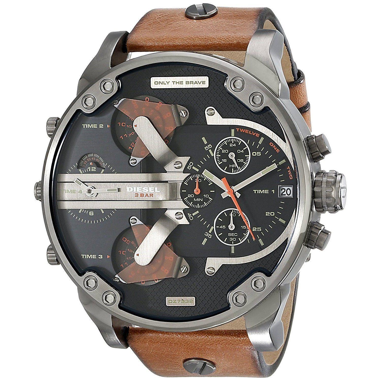 851a8fda1bf7 Diesel Men s DZ7332 Mr Daddy 2.0 Chronograph Brown Leather Watch ...