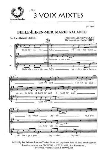 Parole Belle Ile En Mer : parole, belle, Laurent, Voulzy, Belle, Ile-En-Mer,, Marie-Galante, (Partition), Partitions, Gratuites,, Partition,, Partition, Musique