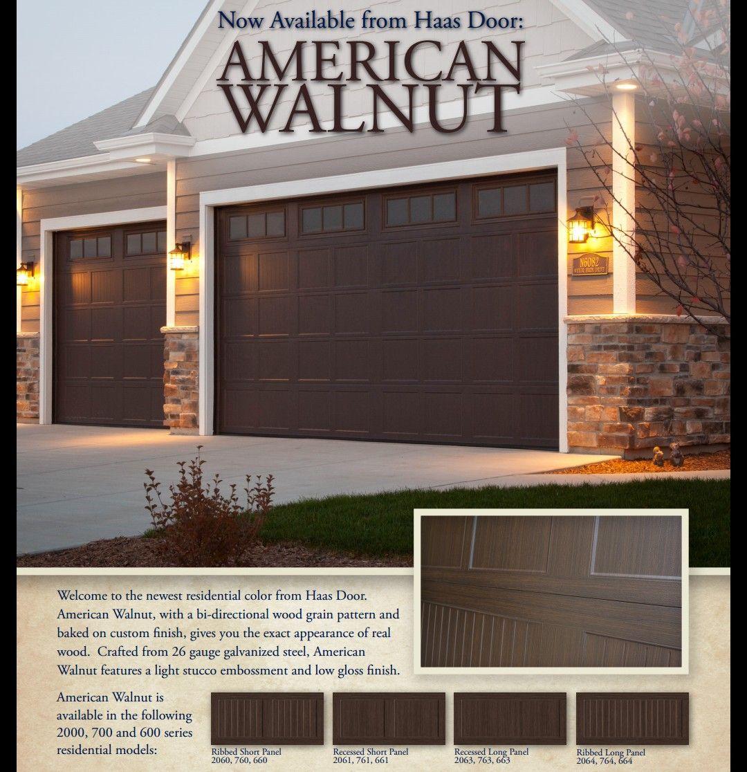 American Walnut Garage Doors Exterior In 2019 Garage