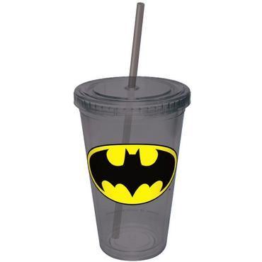 Batman Plastic Cup w/ Straw... I want one!!