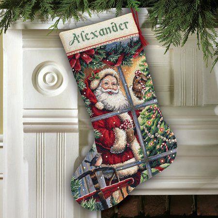 Christmas Stockings - Cross Stitch Patterns & Kits | Christmas ...