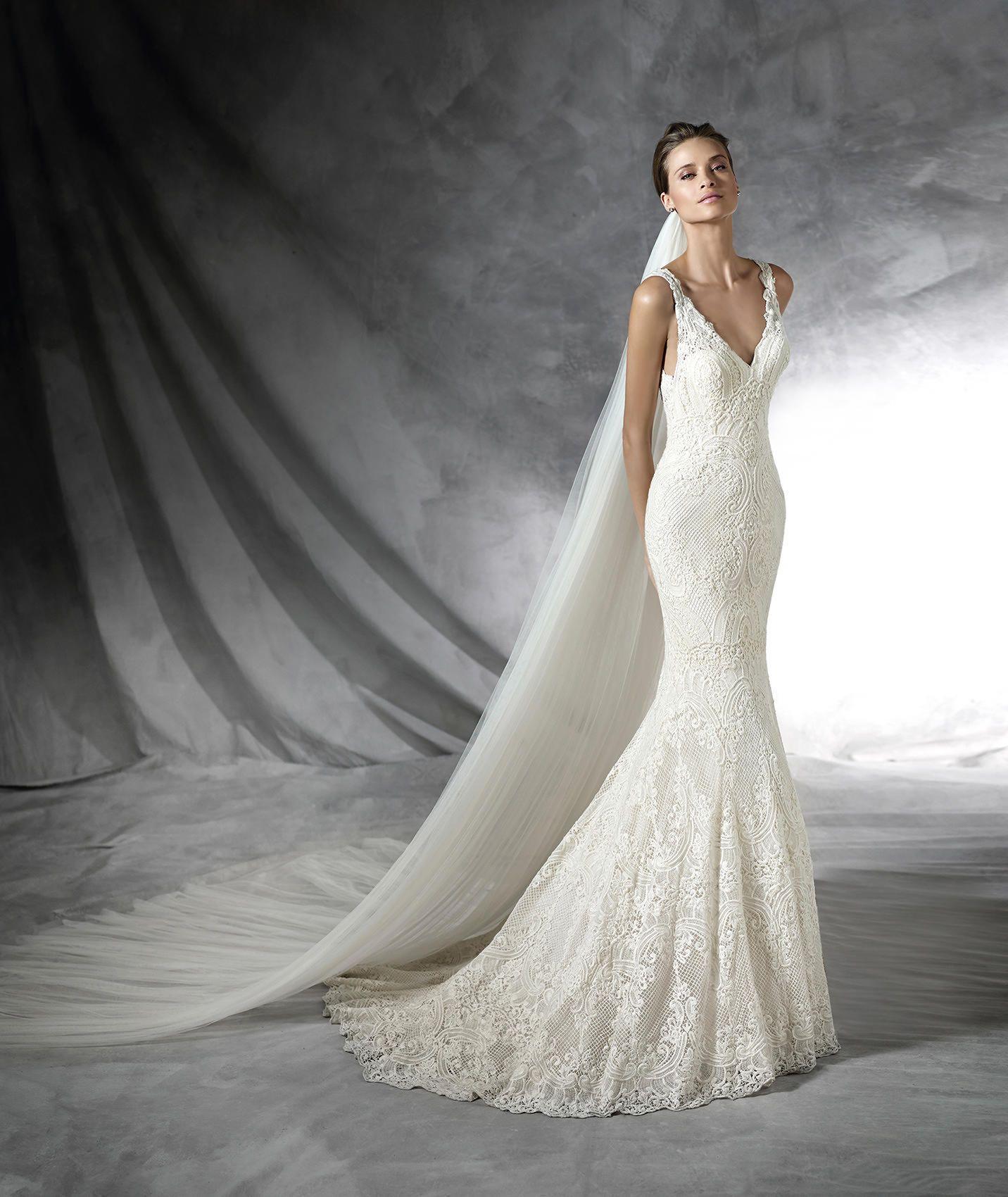 PROLA - Originelles Brautkleid mit V-Ausschnitt | Ausschnitt ...