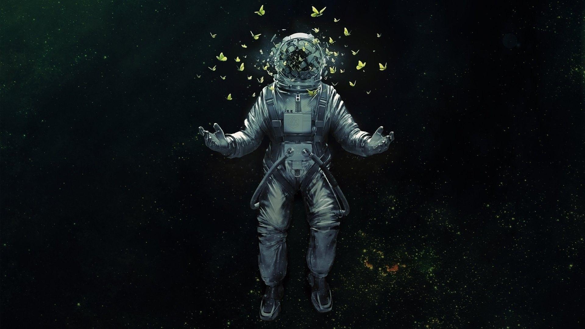 General 1920x1080 astronaut butterfly Psy