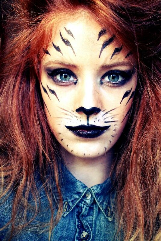 animal face paintings top cheap easy design for halloween party - Tiger For Halloween