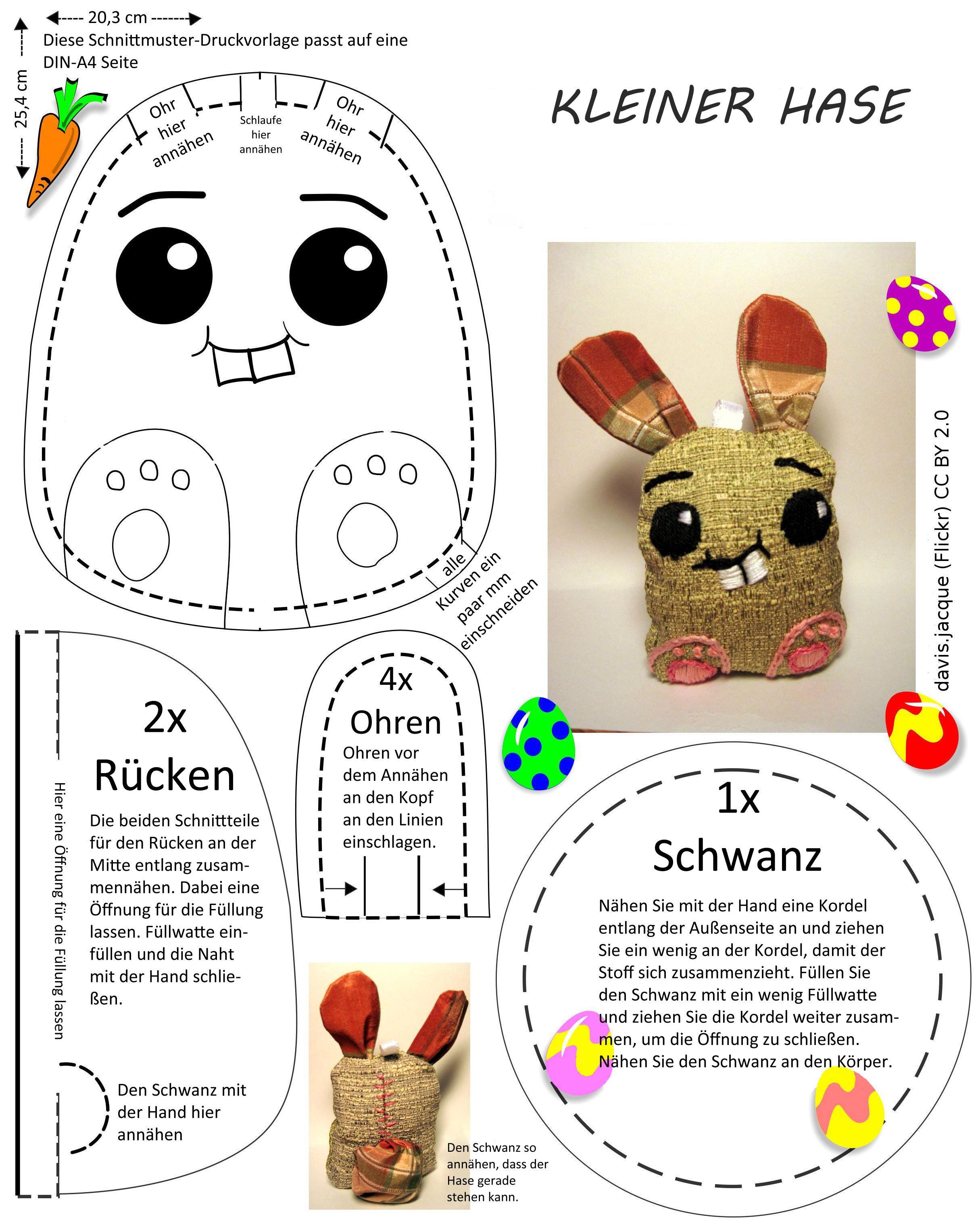 Schnittmuster für Hasenkissen | Mama | Pinterest | Osterhasen ...