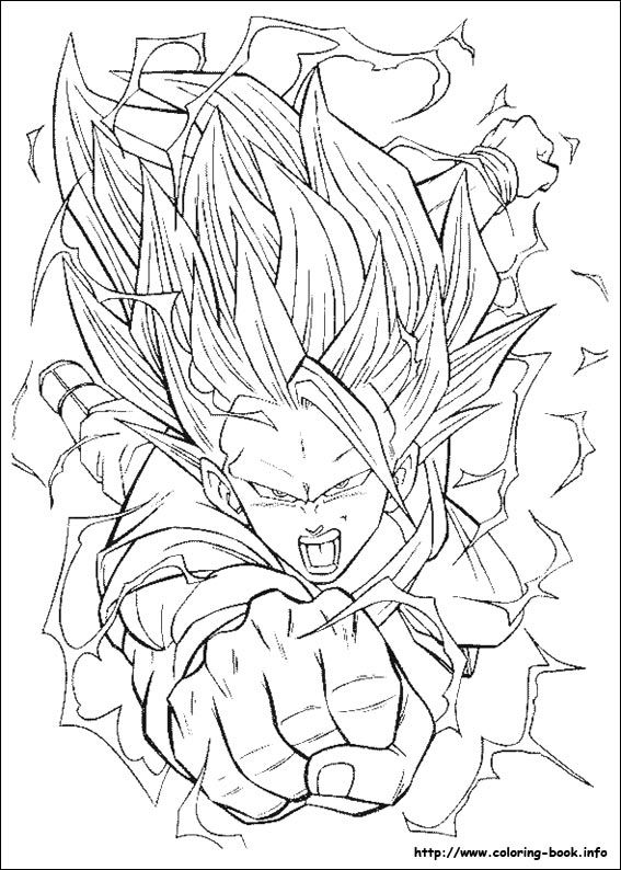 90 Dragon Ball Z Trunks Coloring Page