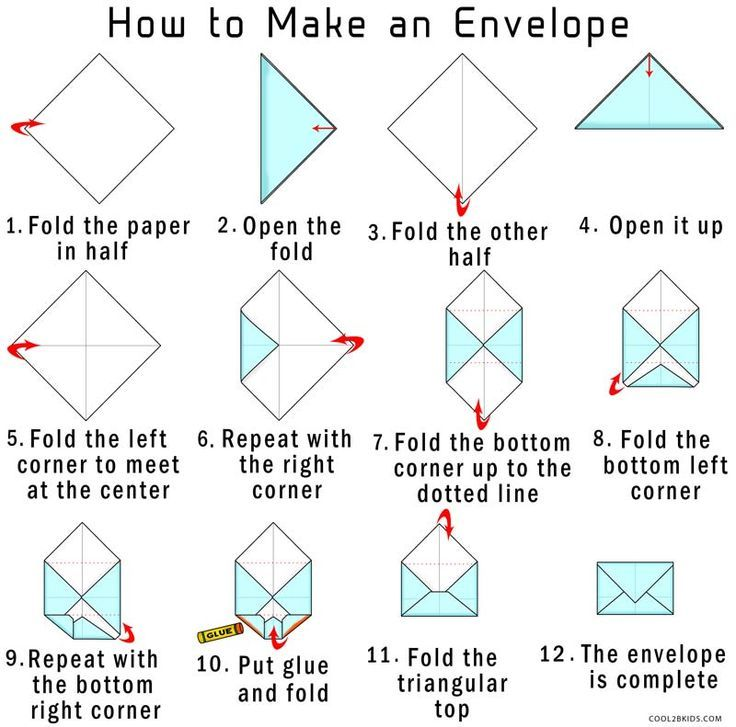 Image result for how to make a paper envelope easy Potential - Small Envelope Template