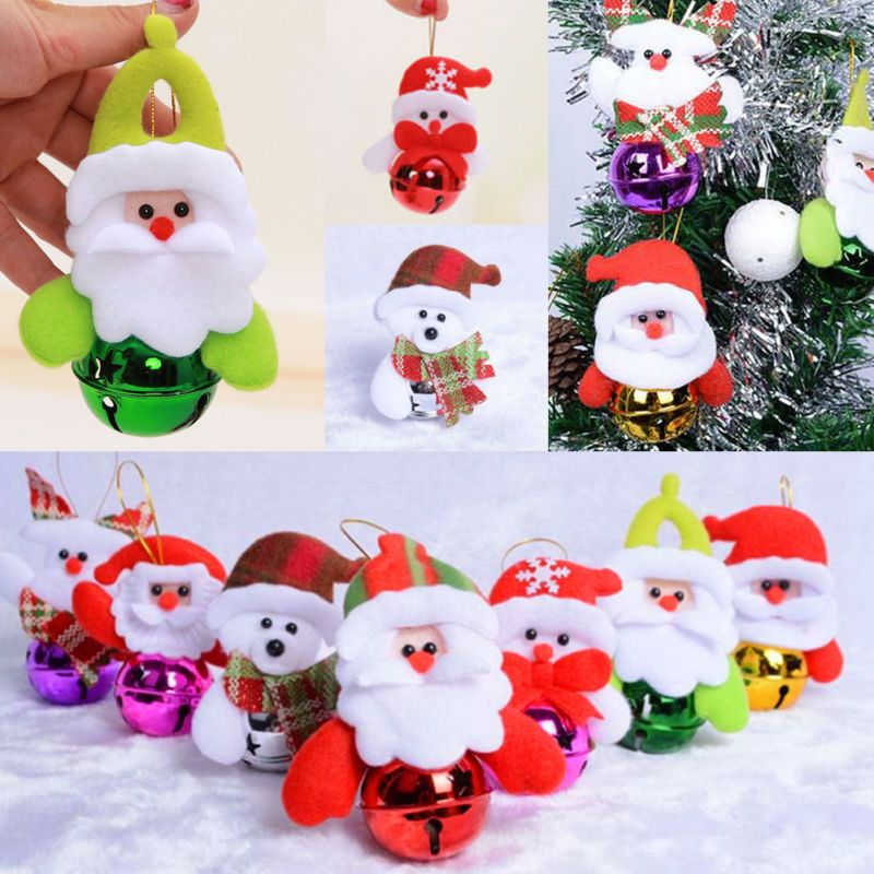Jingle Bell Tree Decorations New Snowman Tone Jingle Bells Christmas Tree Decor Xmas Hanging