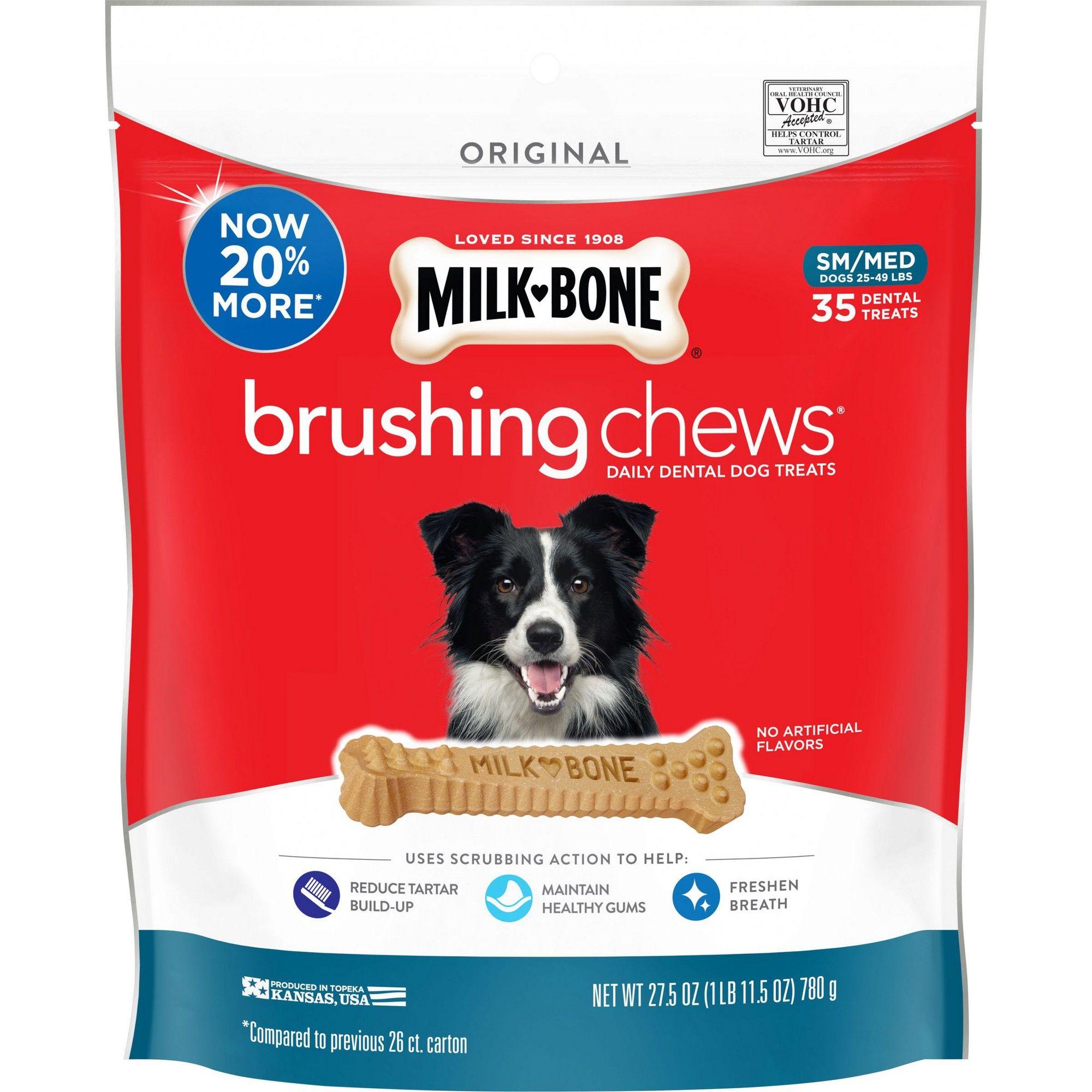 Milk Bone Brushing Chews Small Medium 20 4oz Dog Treats Dog