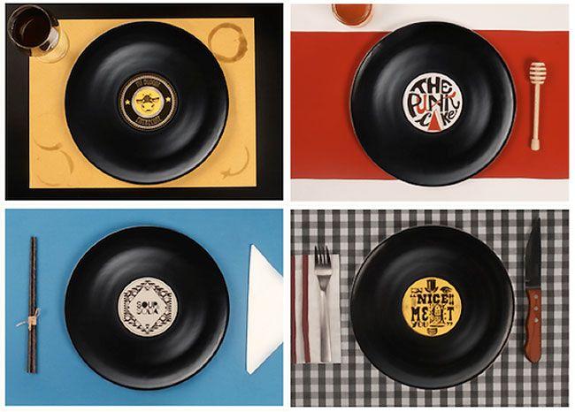 Cool Find Vinyl Record Dinner Plates  sc 1 st  Pinterest & Cool Find: Vinyl Record Dinner Plates | 1950s wedding decor | Pinterest