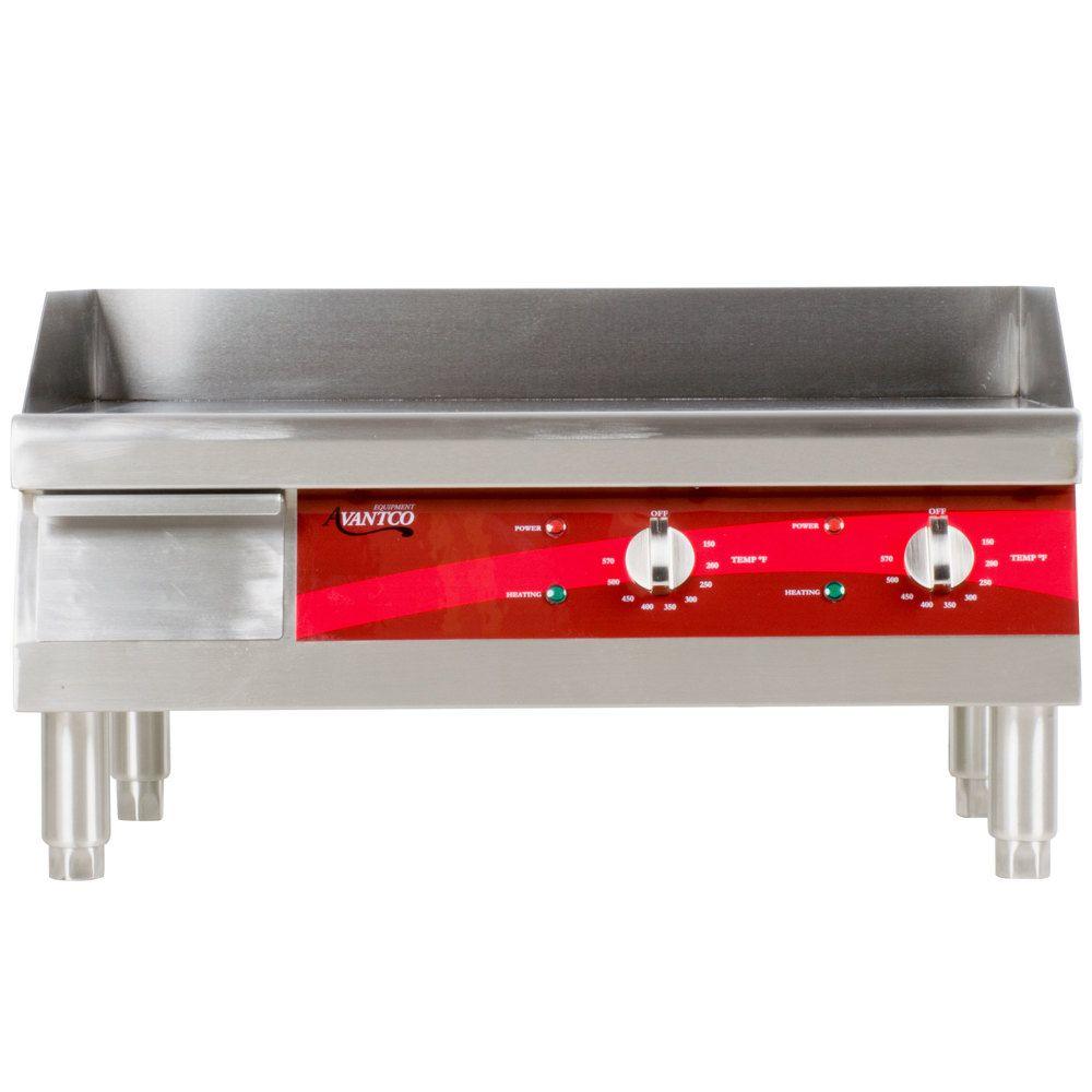 Avantco Eg24n 24 Electric Countertop Griddle 208 240v 2675w