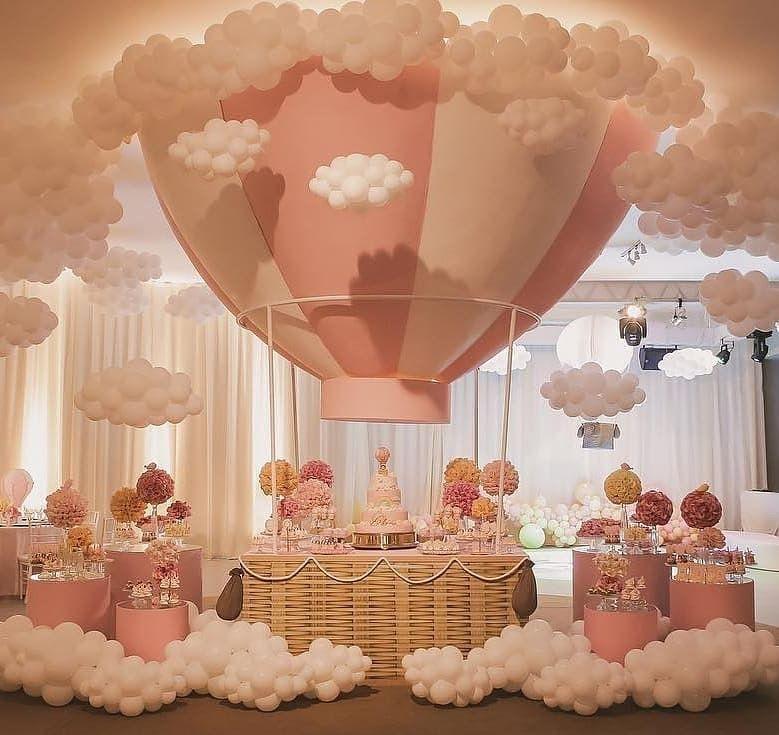 Jungle Hot Air Balloon Baby Shower Baby Shower Balloons Hot Air