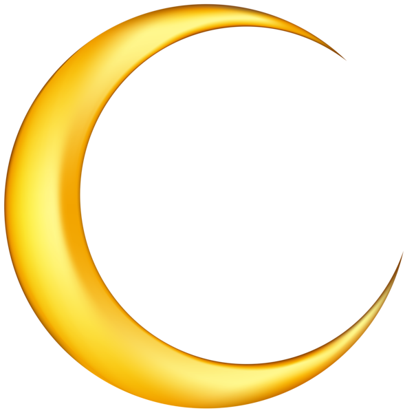 Yellow New Moon Png Clip Art Image Art Images Clip Art Blurred Background Photography