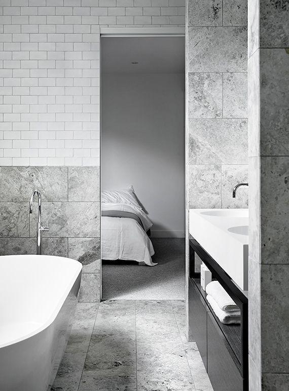 Grey Marble Bathroom 6 monochrome bathrooms for the minimalist (the edit)   monochrome