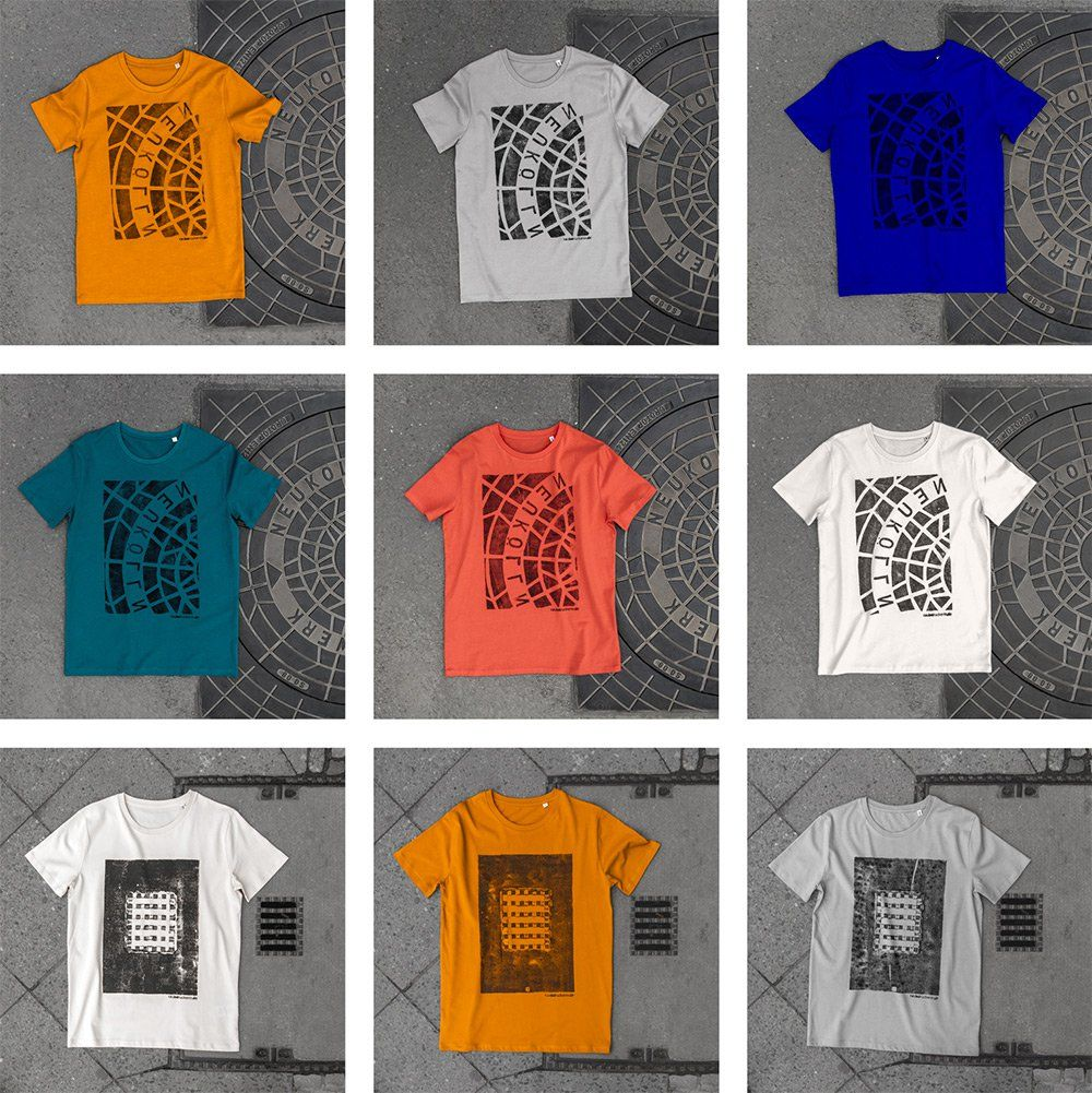 Raubdruckerin  Camisetas y bolsas impresas directamente en tapas de ... 373f4197e1acb