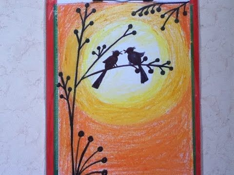 Beautiful Drawing For Children In Simple Steps Oil Pastel