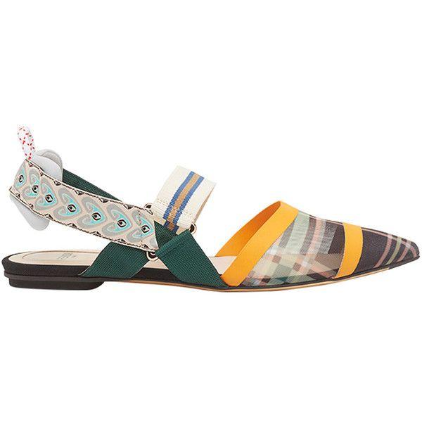 Fendi Peep Toe Chaussures De Ballerine - Polychromes xwd964i