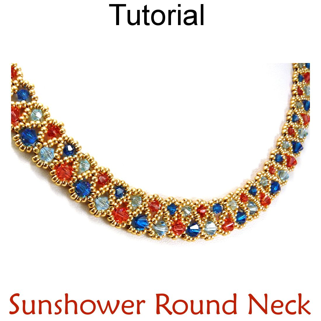 Photo of Crystal Necklace DIY Beading Pattern Jewelry Making Tutorial