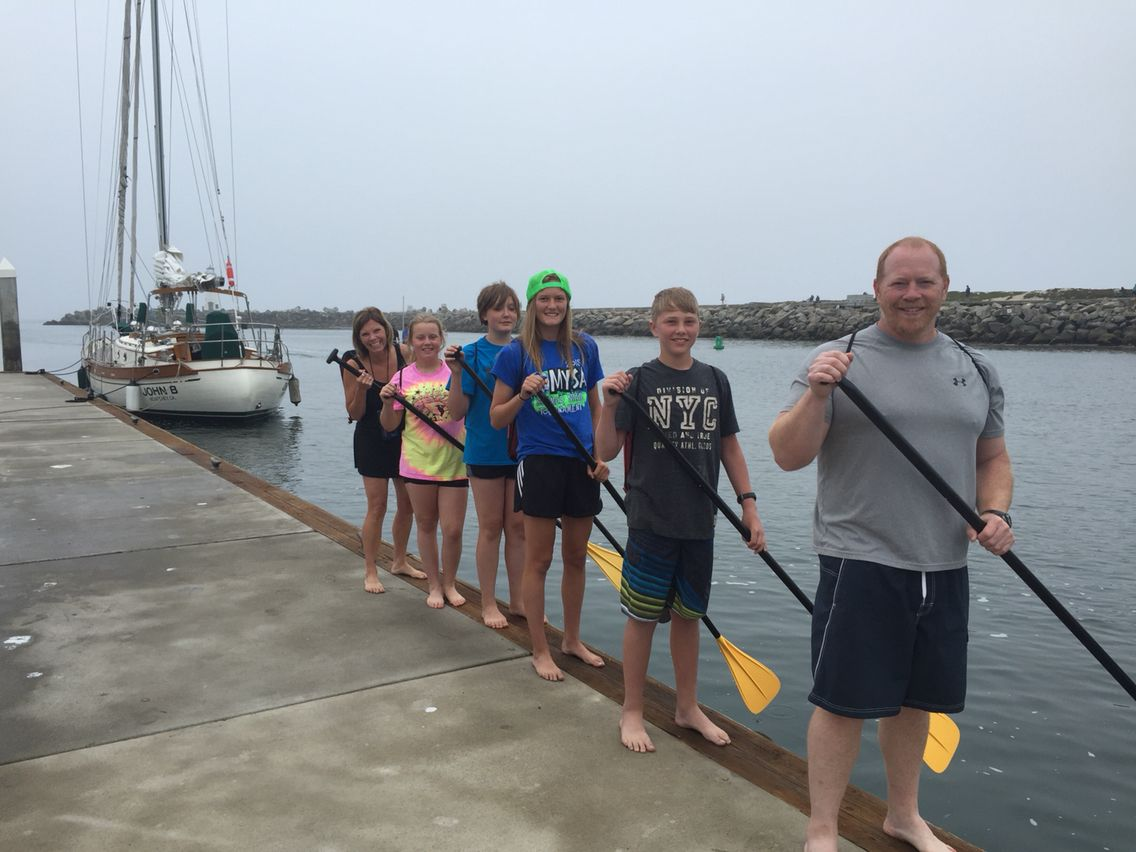 Learning paddle strokes is easy at our dock!